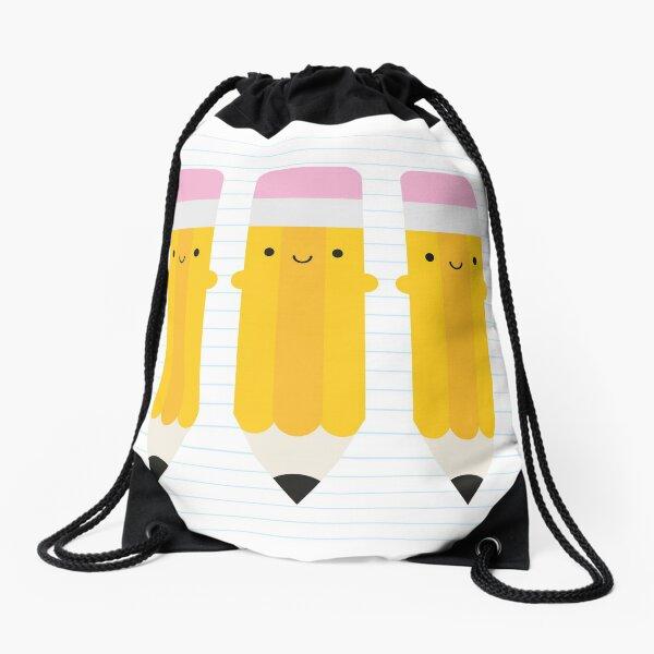 Happy Kawaii Pencils Drawstring Bag