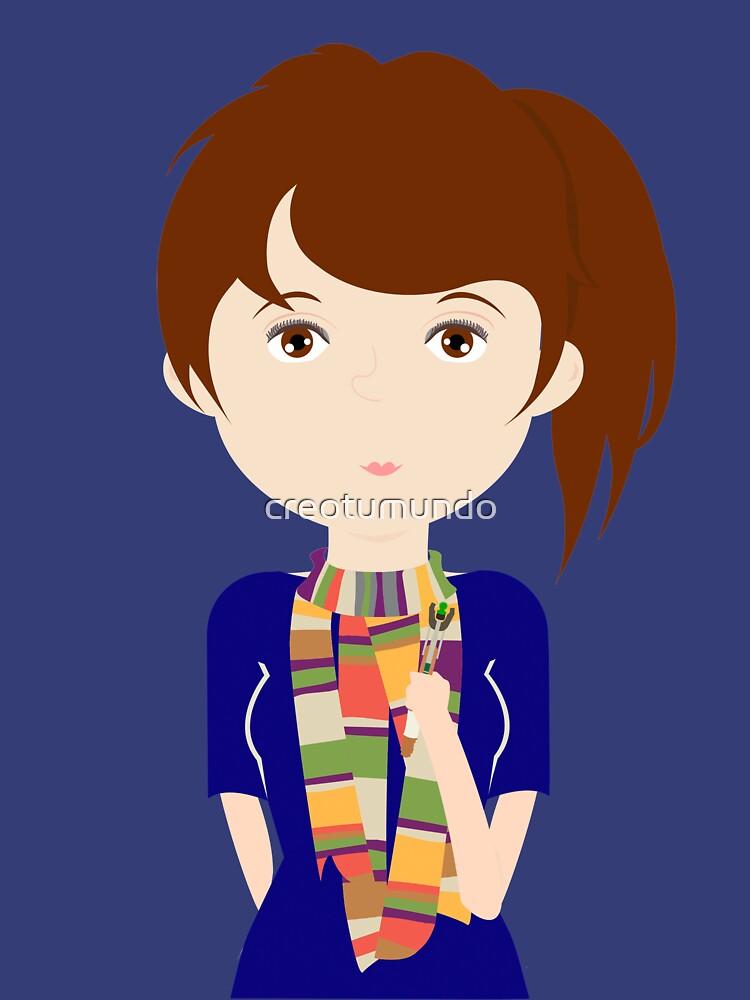 Dr Who fan girl de creotumundo