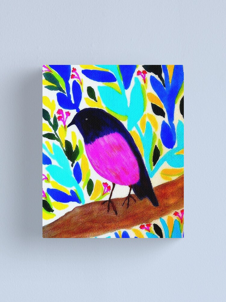 Alternate view of Pink Robin Canvas Print