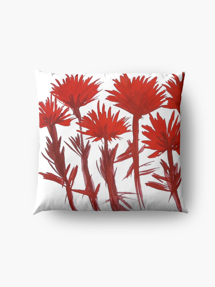Alternate view of Indian Paintbrush  Floor Pillow