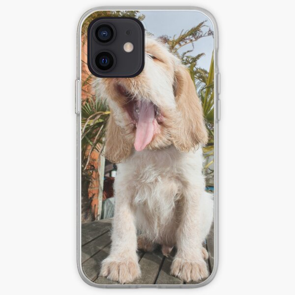 Yawning Spinone Puppy iPhone Soft Case