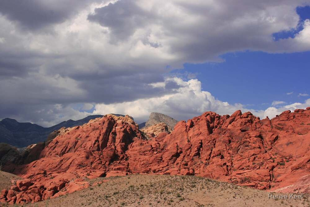 Blue Skies over Red Rock by Vegasspice