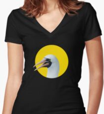 Hi! Nazca booby Fitted V-Neck T-Shirt