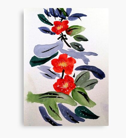 Oriental Flowers Canvas Print