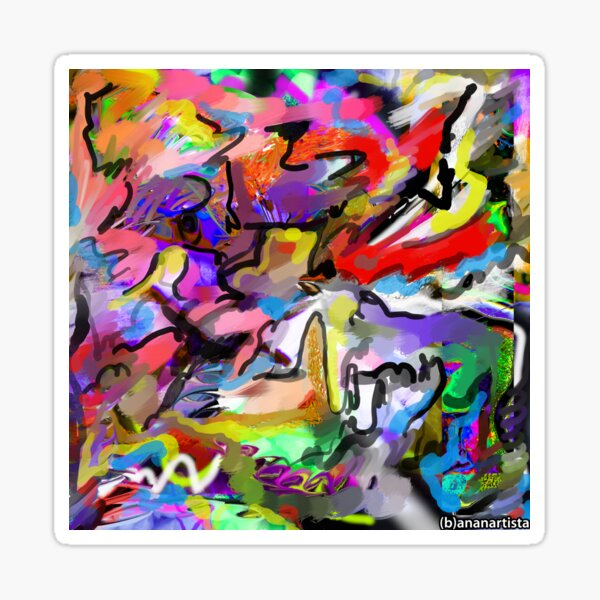 Hormonal storms (abstract painting) Sticker