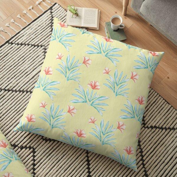 Hibiscus Watercolor Floor Pillow