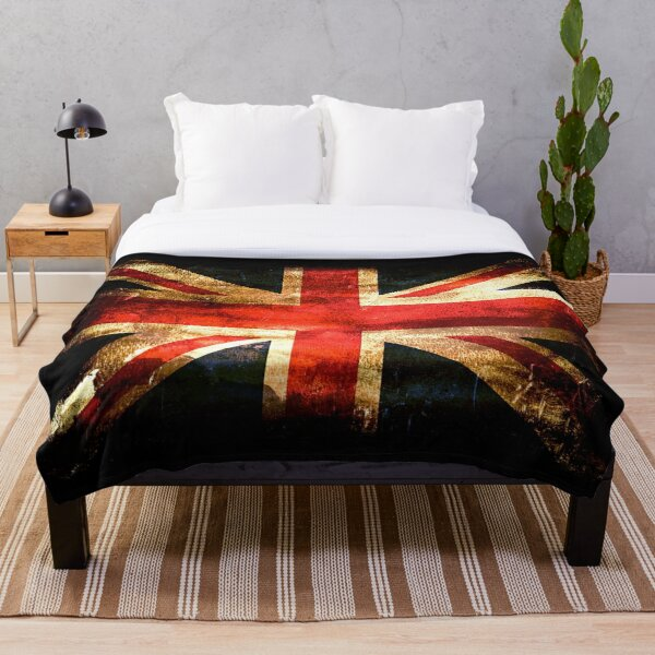 UNION JACK. GRUNGE FLAG. Throw Blanket