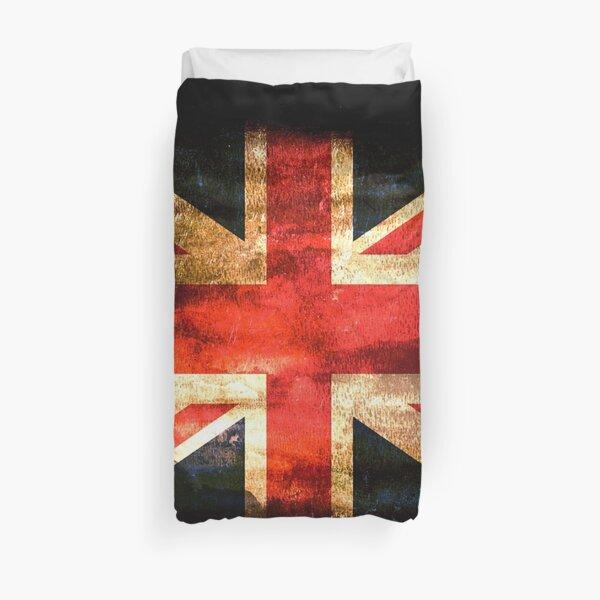 UNION JACK. GRUNGE FLAG. Housse de couette