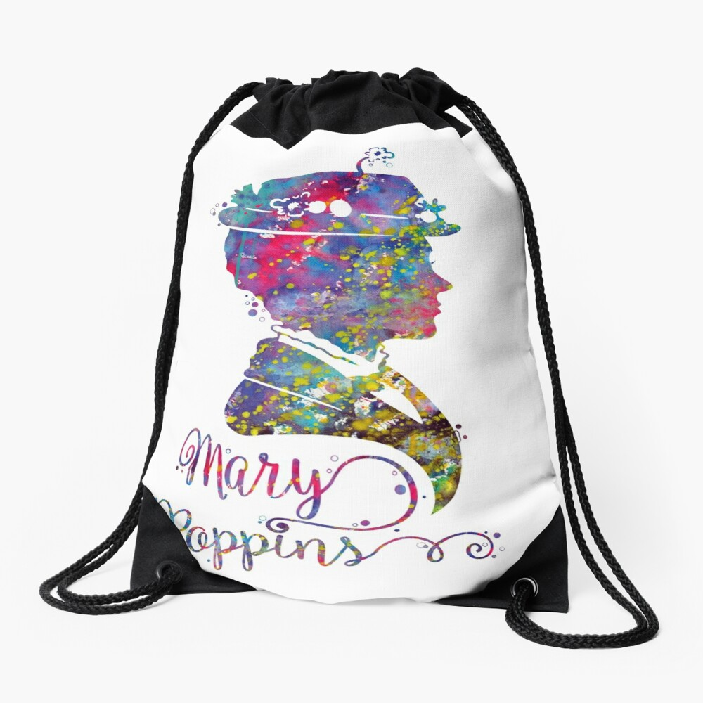 Mary Poppins Drawstring Bag