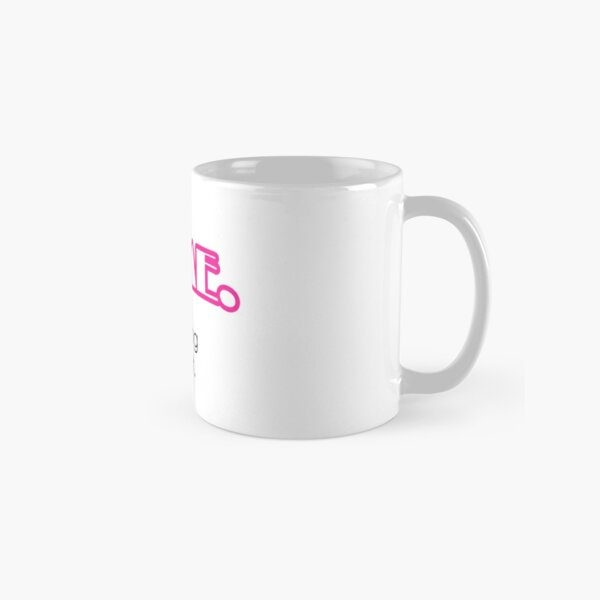 Yes, I'm Awesome Typography Design Pink Self Motivation Classic Mug