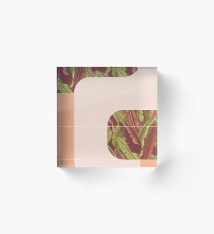 Mid-Century Tropical Mood #redbubble #tropical Acrylic Block