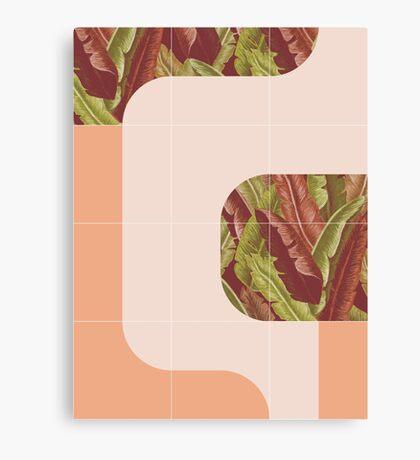 Mid-Century Tropical Mood #redbubble #tropical Canvas Print
