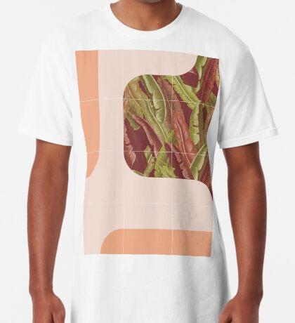 Mid-Century Tropical Way #redbubble #tropical Long T-Shirt