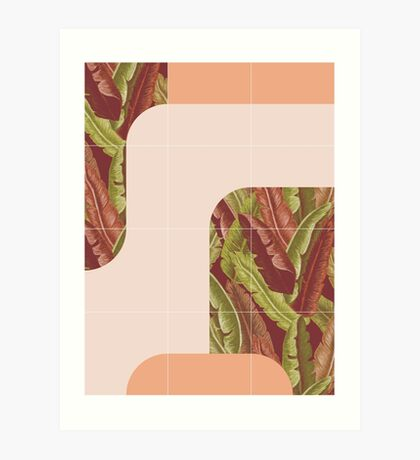 Mid-Century Tropical Style #redbubble #tropical Art Print