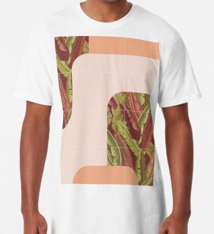 Mid-Century Tropical Style #redbubble #tropical Long T-Shirt