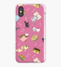 Cats Baking Cakes and other Sweets, in Pink iPhone Case