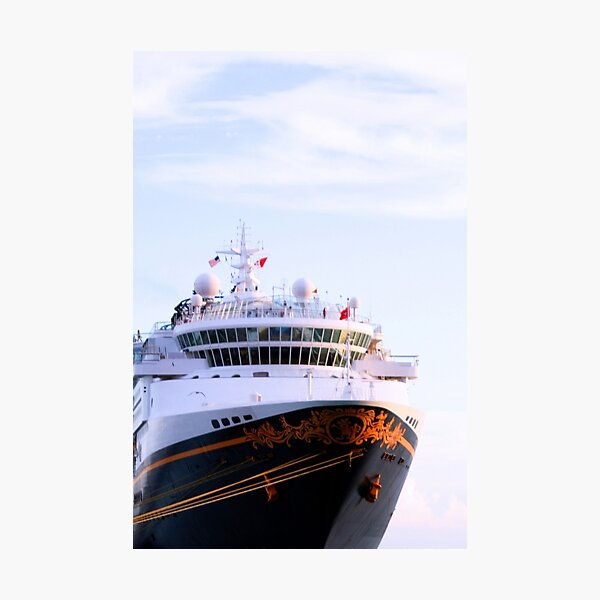 Disney Cruise Ship at Key West Florida Photographic Print