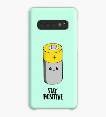 Stay Positive - Funny Motivational card - Battery  Case/Skin for Samsung Galaxy