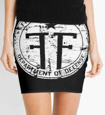 Fringe Division Mini Skirt