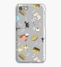 Cats Baking Cakes and other Sweets, in Grey iPhone Case/Skin