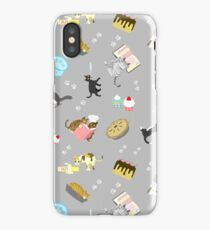 Cats Baking Cakes and other Sweets, in Grey iPhone Case