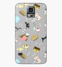Cats Baking Cakes and other Sweets, in Grey Case/Skin for Samsung Galaxy