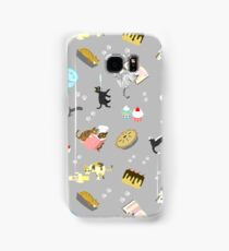 Cats Baking Cakes and other Sweets, in Grey Samsung Galaxy Case/Skin