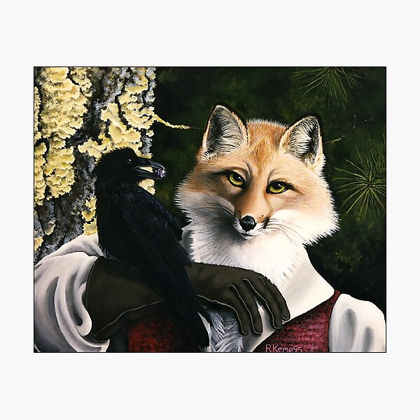 The Fox and the Cheese - Aesop's Fable Photographic Print