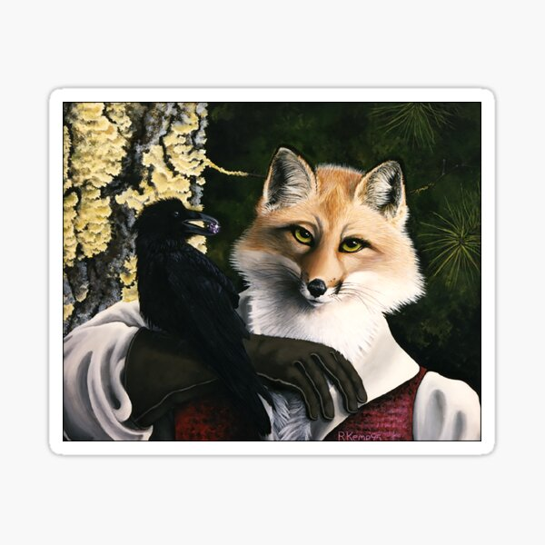 The Fox and the Cheese - Aesop's Fable Sticker