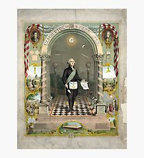 George Washington as a Freemason Photographic Print