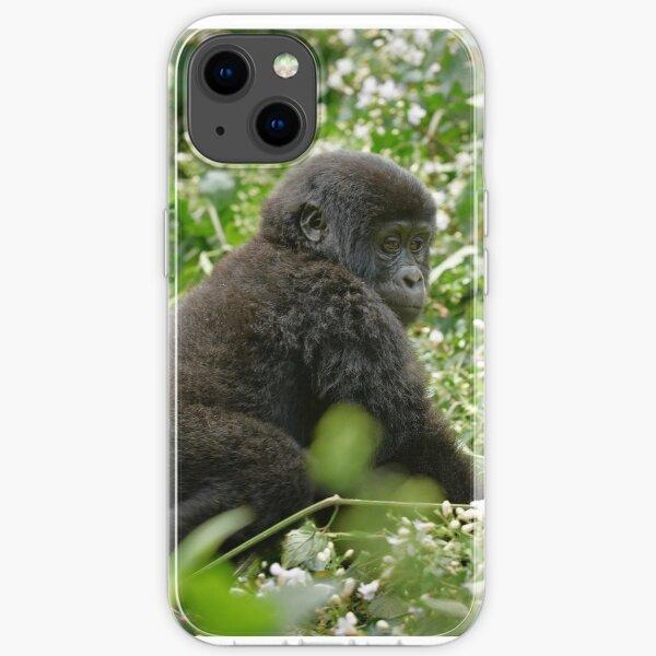baby mountain gorilla, Bwindi, Uganda iPhone Flexible Hülle