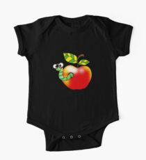 Smart bookworm with red apple Kids Clothes
