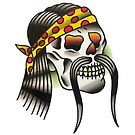Traditional Hippie Skull Tattoo Design by FOREVER TRUE TATTOO
