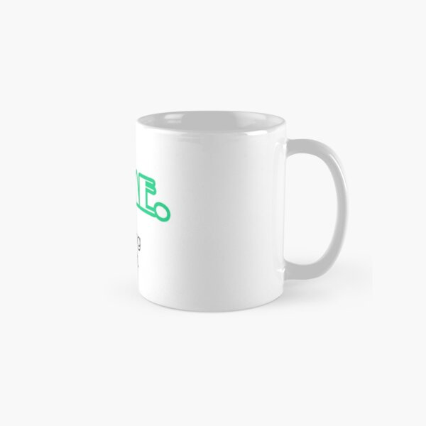 Yes, I'm Awesome Typography Design Green Self Motivation Classic Mug