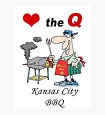 Love The Q - Kansas City BBQ Photographic Print