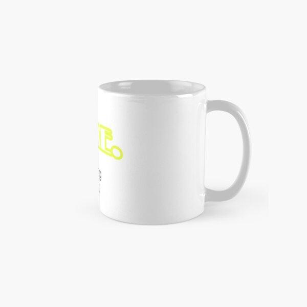 Yes, I'm Awesome Typography Design Yellow Self Motivation Classic Mug