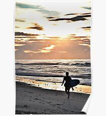Old Bar Surfer Poster