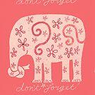 Vergiss nicht (pink) von marthaseahorse