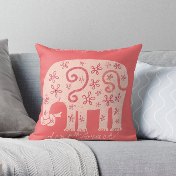 Don't forget (pink) Throw Pillow