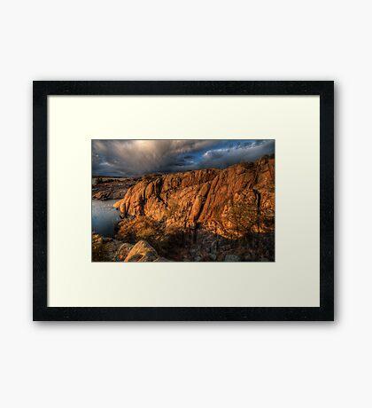 Up on the Big Rocks Framed Print