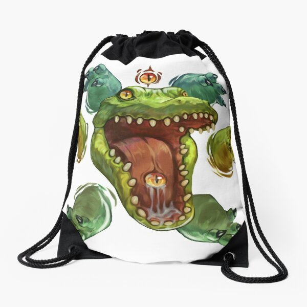 Crocodile Drawstring Bag