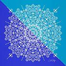 Marokkanische Mandala - Blue Diagonal Palette von Cat Coquillette