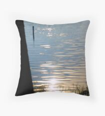 Glass Ripples Throw Pillow