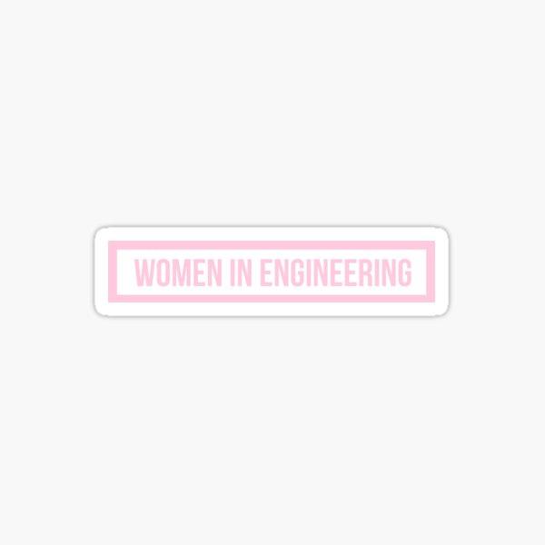Mujeres Rosadas en Ingeniería Pegatina