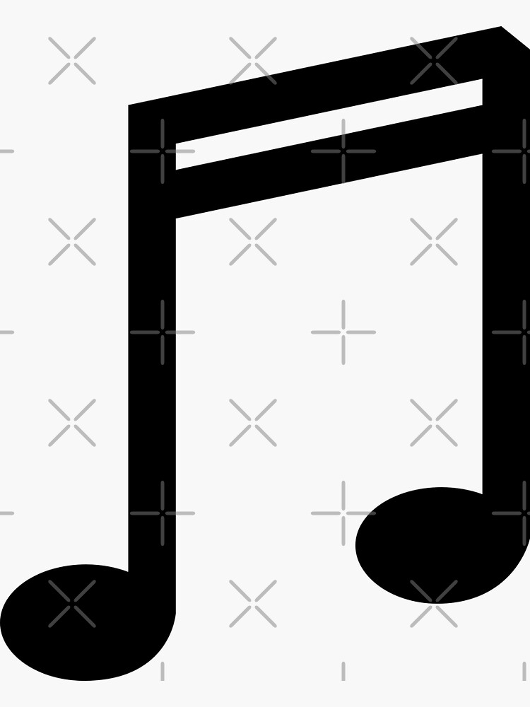 Music double bar note symbol illustration in black and white by THPStock