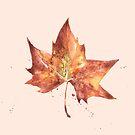«Hoja de otoño a acuarela » de saraurenagijon