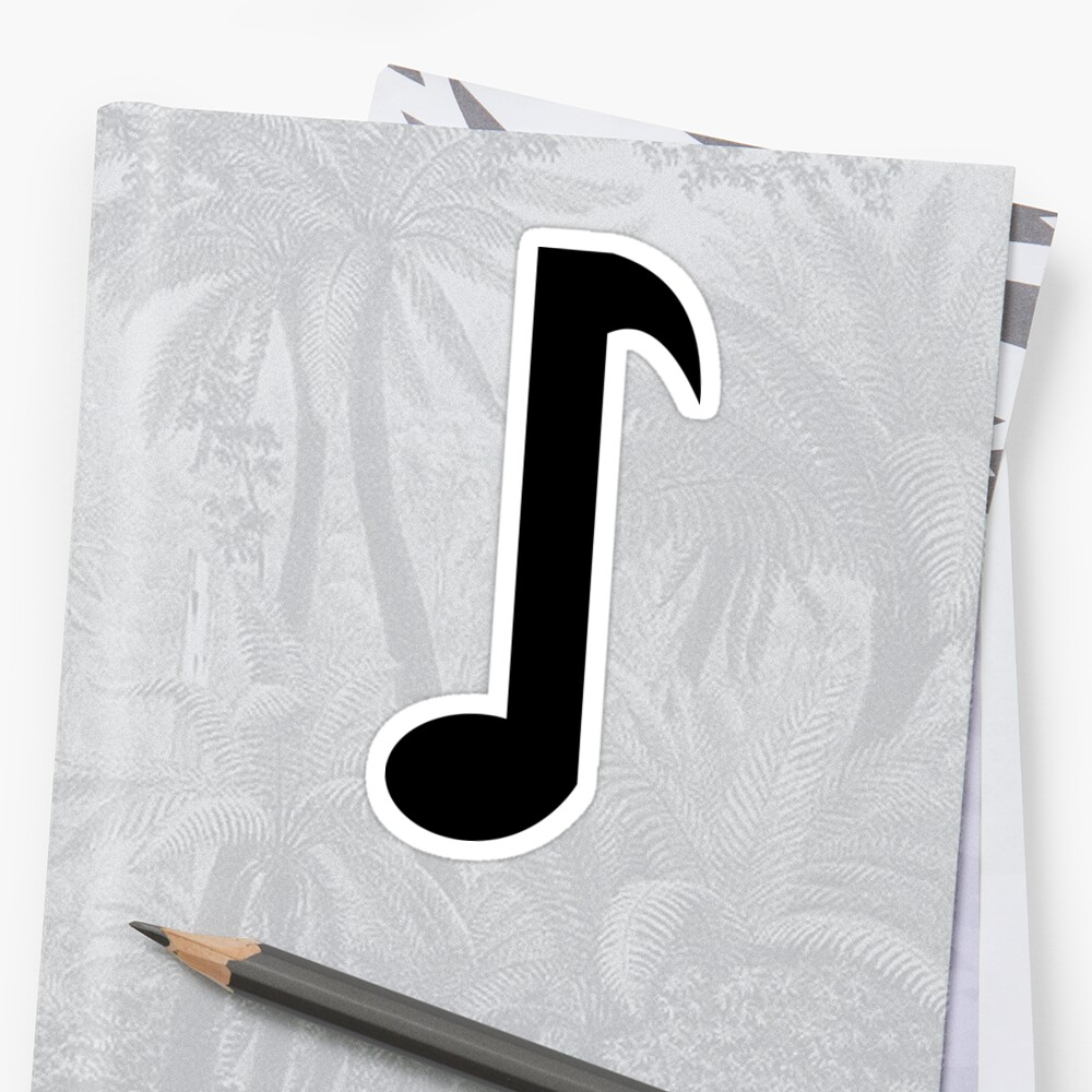 Musical Eighth Notes Symbols Sticker