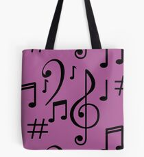 Musical Notes Tote Bag