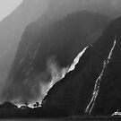 Milford Waterfalls by Peter Hammer