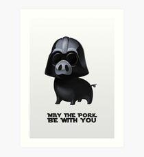 Star Wars: Pig Darth Vader Art Print